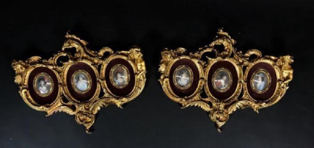 PAIR OF GILT CARVED WOOD ITALIAN PICTURE FRAMES