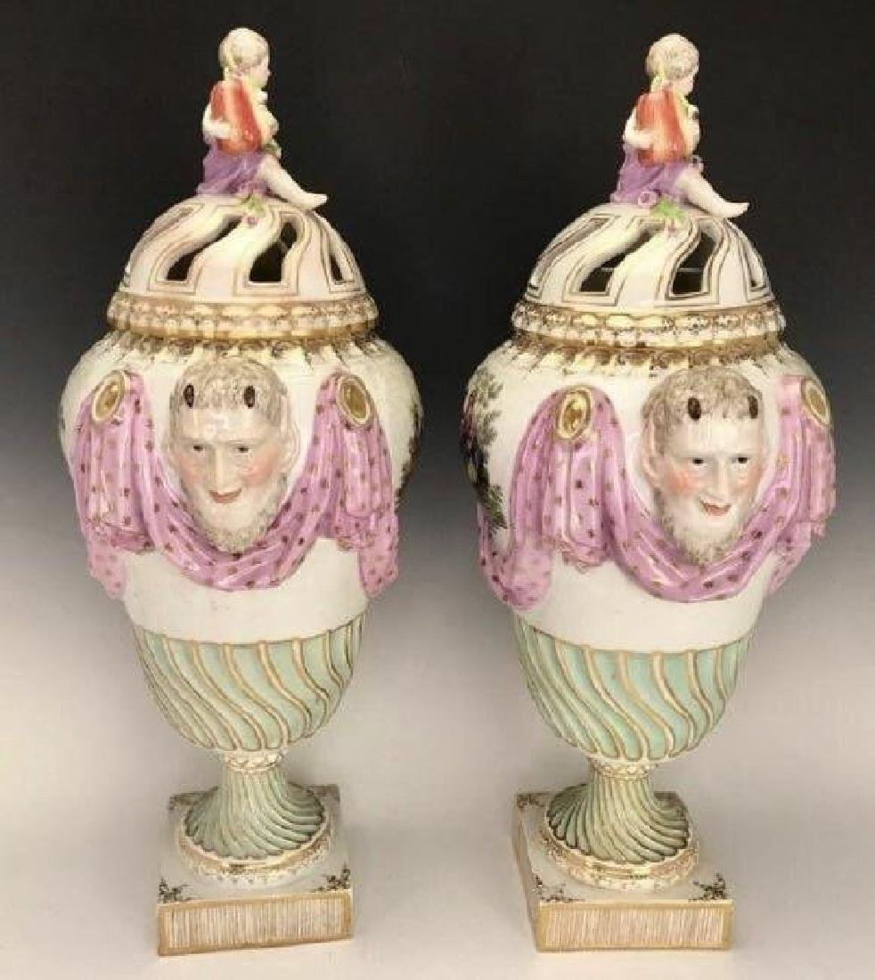 A LARGE PAIR OF 19TH C. ROYAL VIENNA VASES AND COVERS - 2