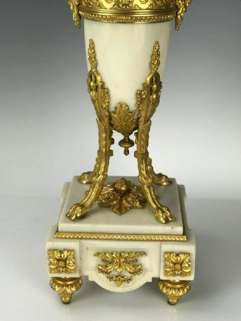 LARGE PAIR OF ORMOLU AND MARBLE CANDELABRA - 2