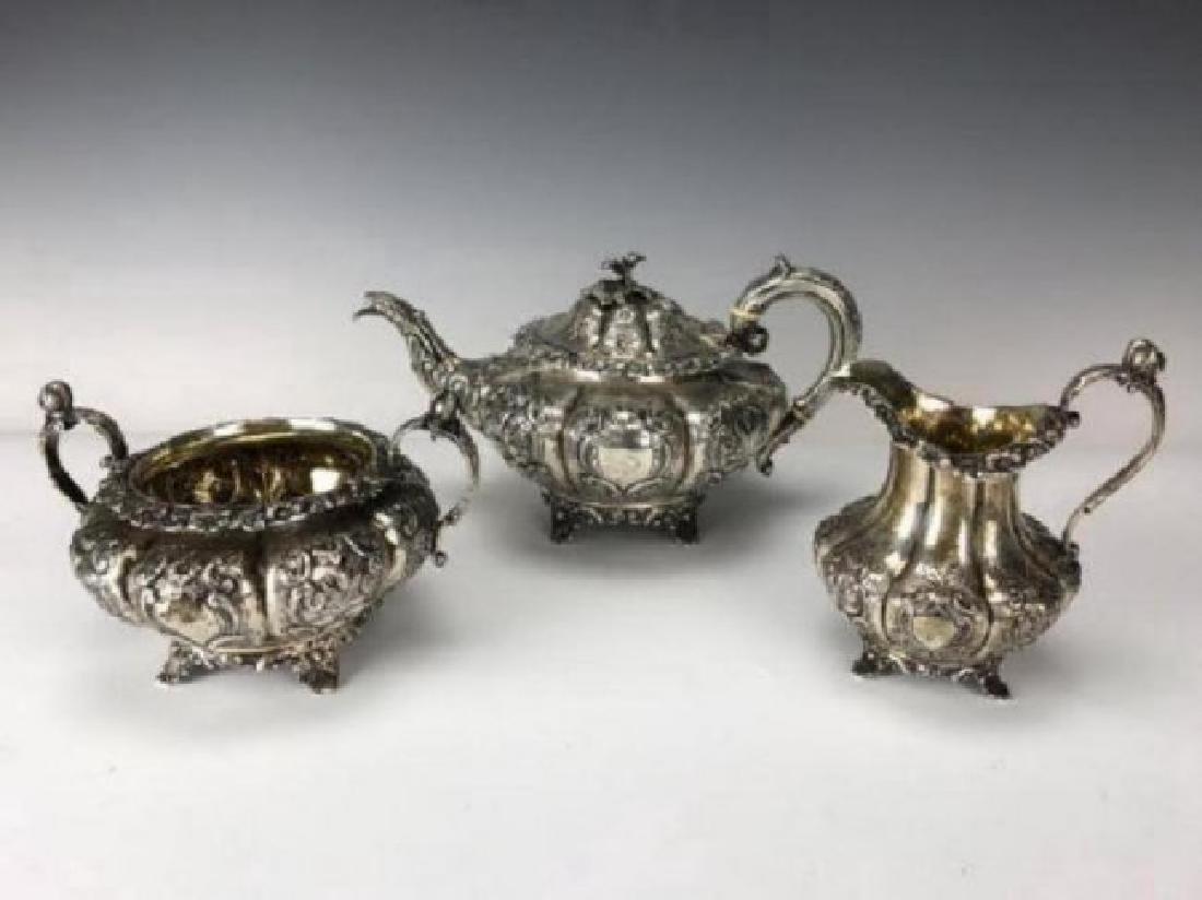 VICTORIAN ENGLISH STERLING SILVER TEA SET