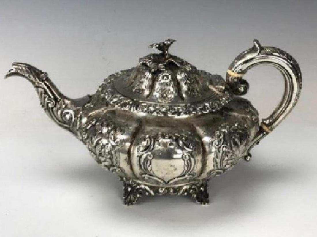 VICTORIAN ENGLISH STERLING SILVER TEA SET - 2