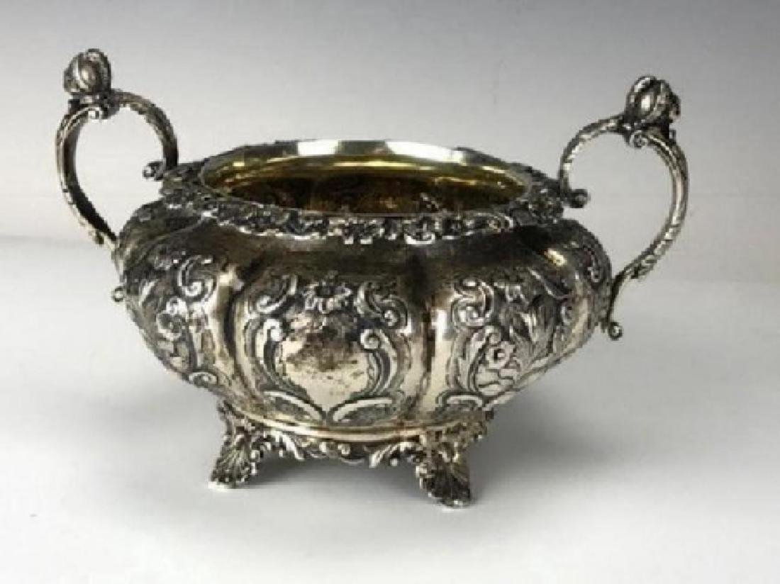 VICTORIAN ENGLISH STERLING SILVER TEA SET - 3