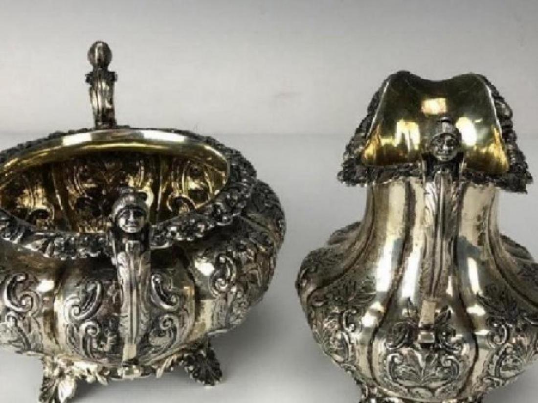 VICTORIAN ENGLISH STERLING SILVER TEA SET - 4