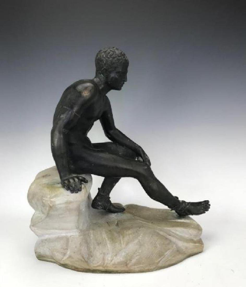 A LARGE BRONZE AND MARBLE SCULPTURE - 2