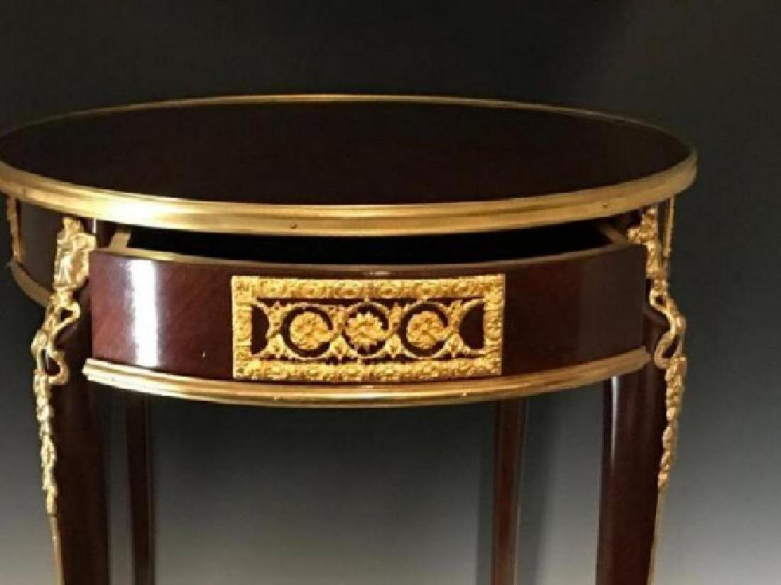 LOUIS XV STYLE FRENCH ORMOLU MOUNTED MARQUETRY TABLE - 3
