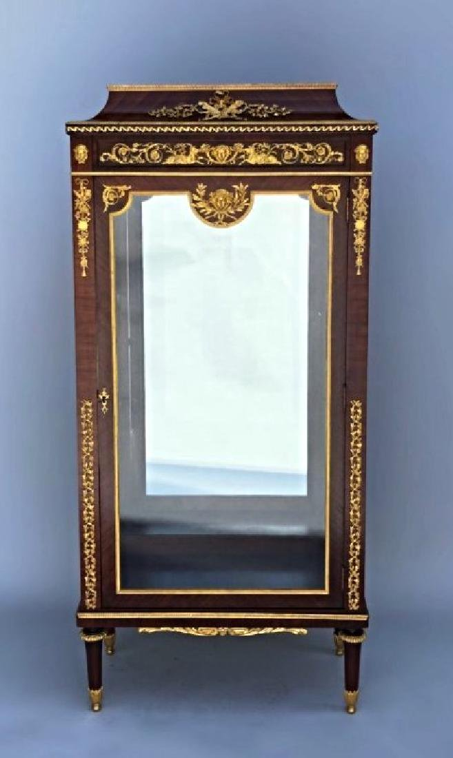 LINKE STYLE ORMOLU MOUNTED KINGWOOD VITRINE