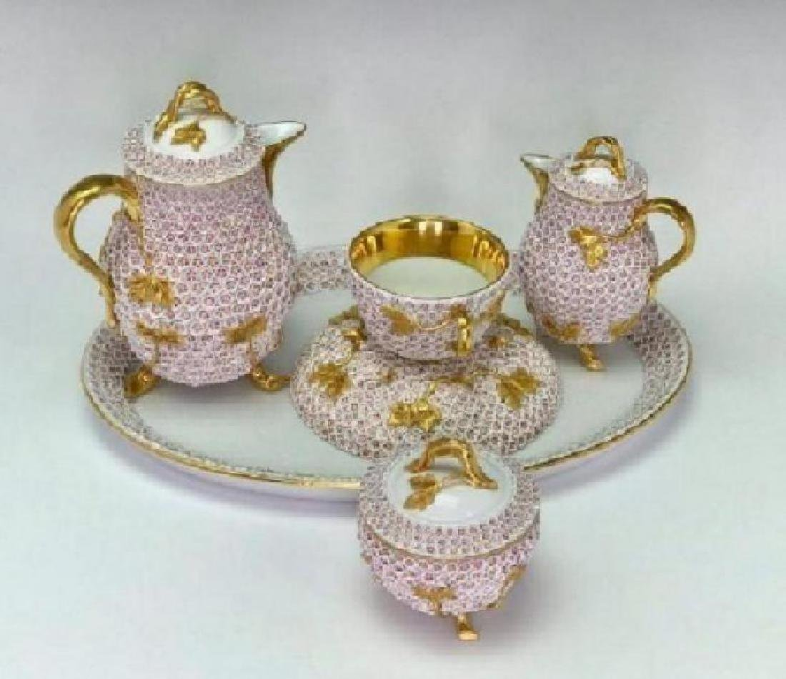 19TH C. MEISSEN SNOWBALL TEA SET