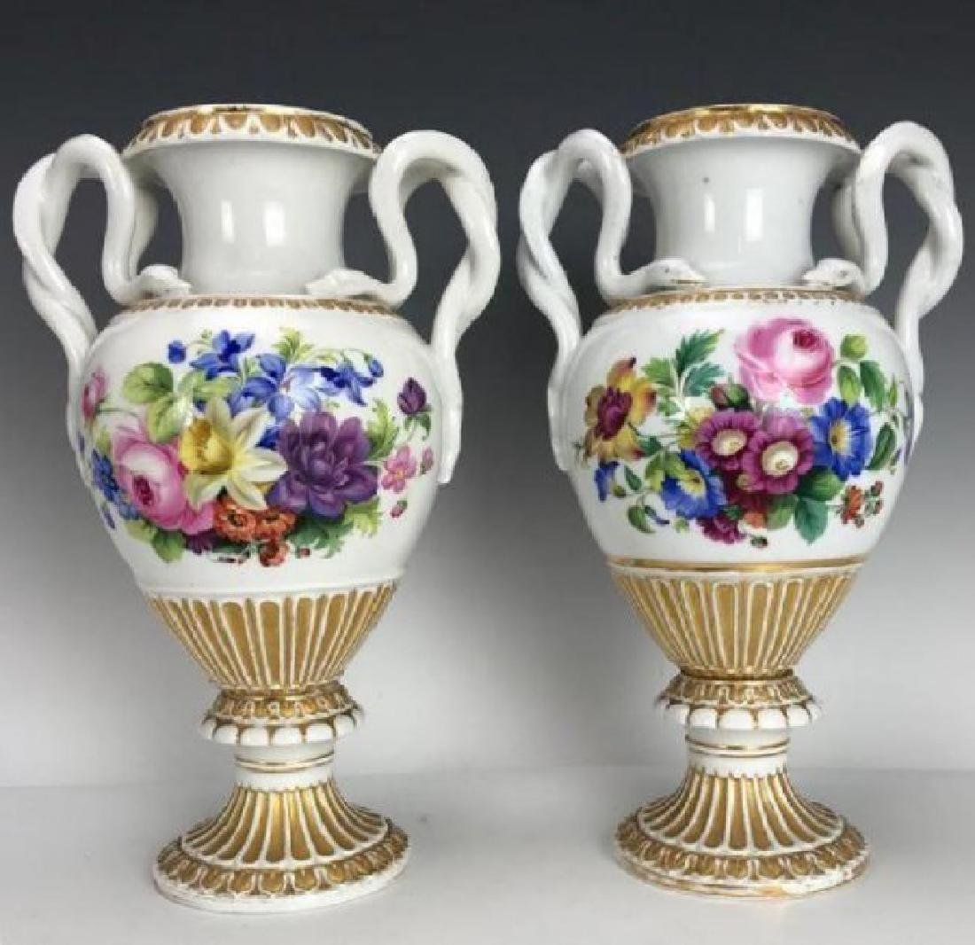 LARGE PAIR OF 19TH C. MEISSEN VASES