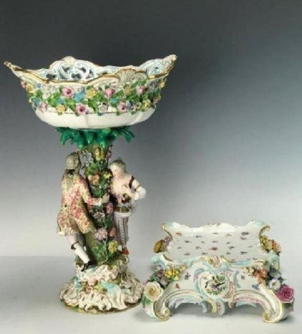LARGE 19TH C. MEISSEN CENTERPIECE AND BASE - 2