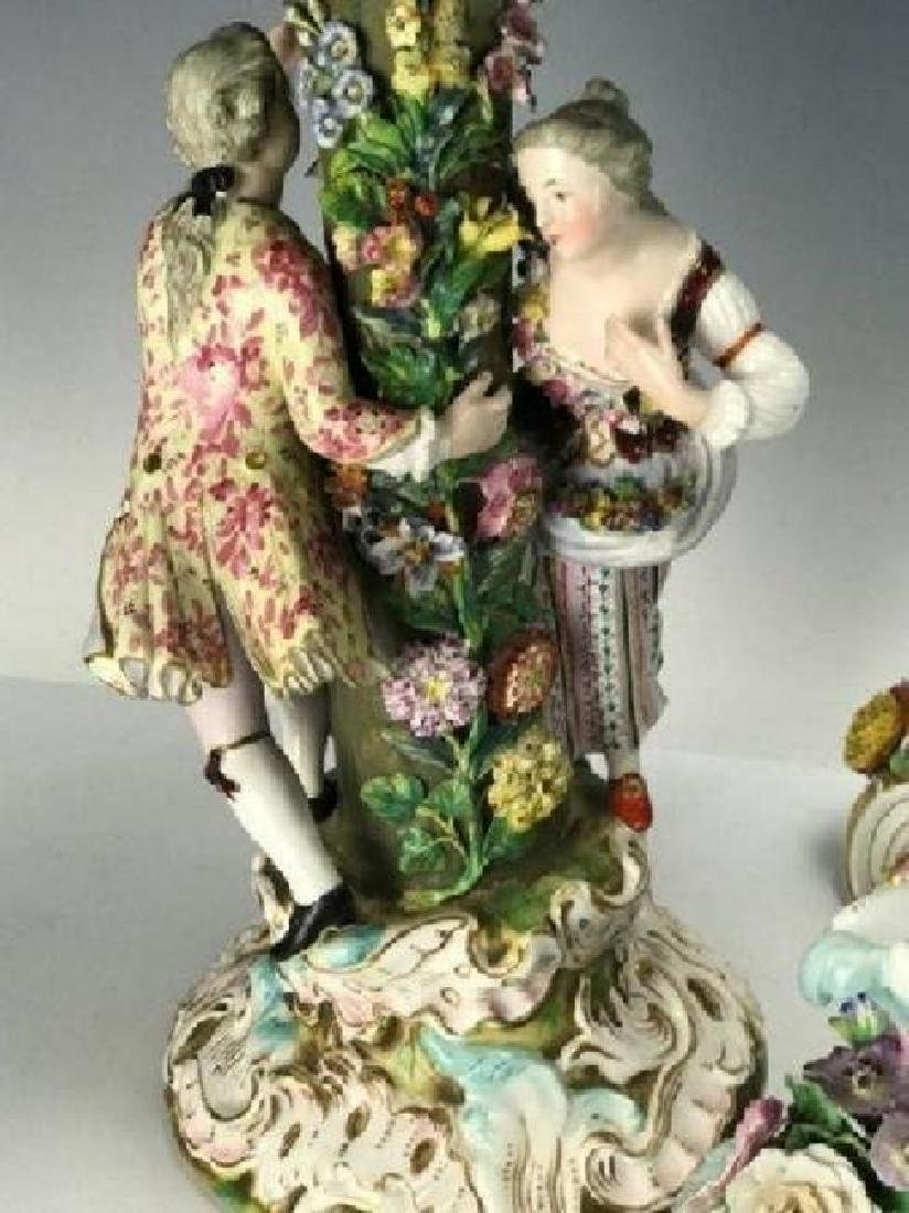 LARGE 19TH C. MEISSEN CENTERPIECE AND BASE - 3