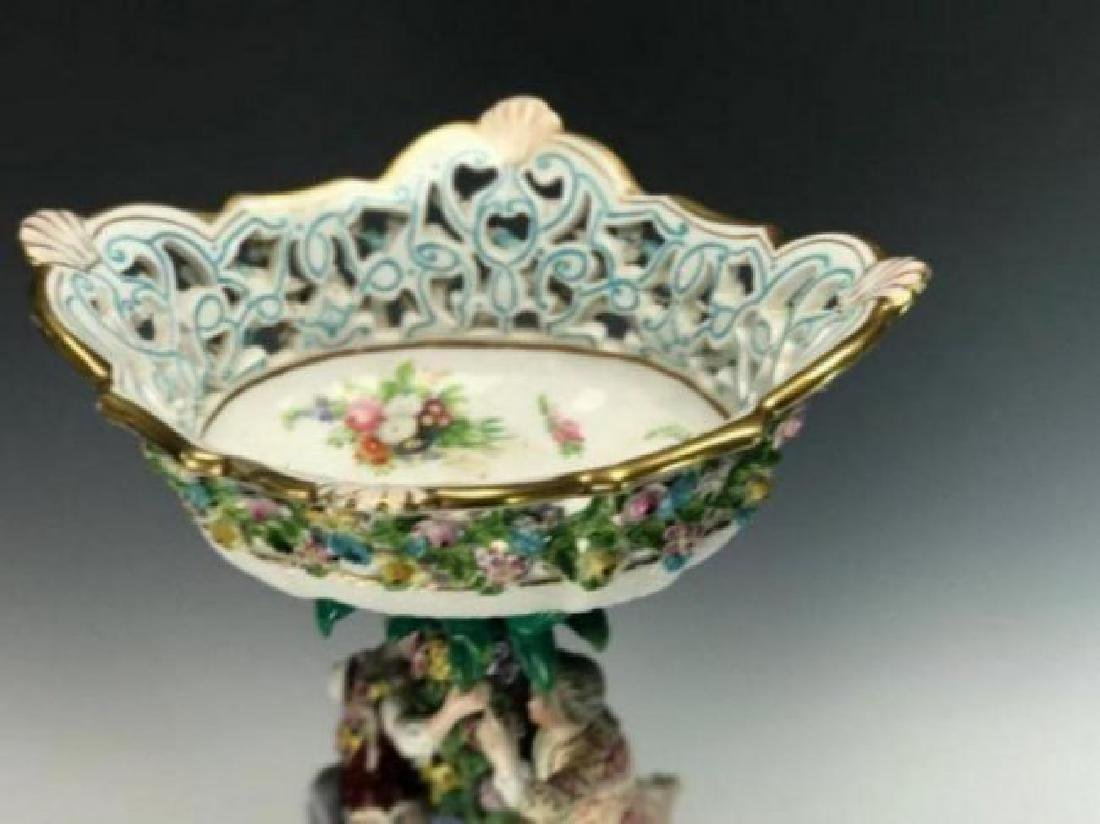 LARGE 19TH C. MEISSEN CENTERPIECE AND BASE - 4