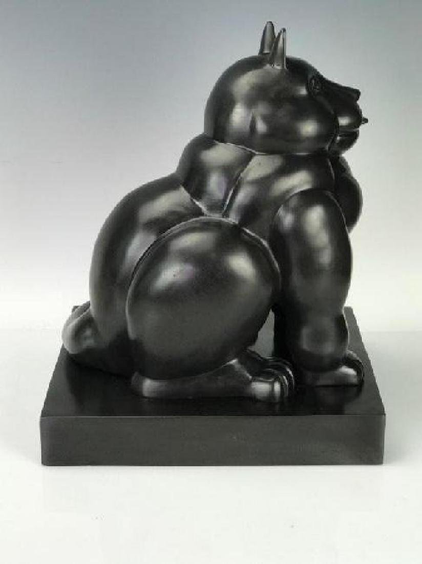 A SIGNED BOTERO BRONZE SCULPTURE - 2