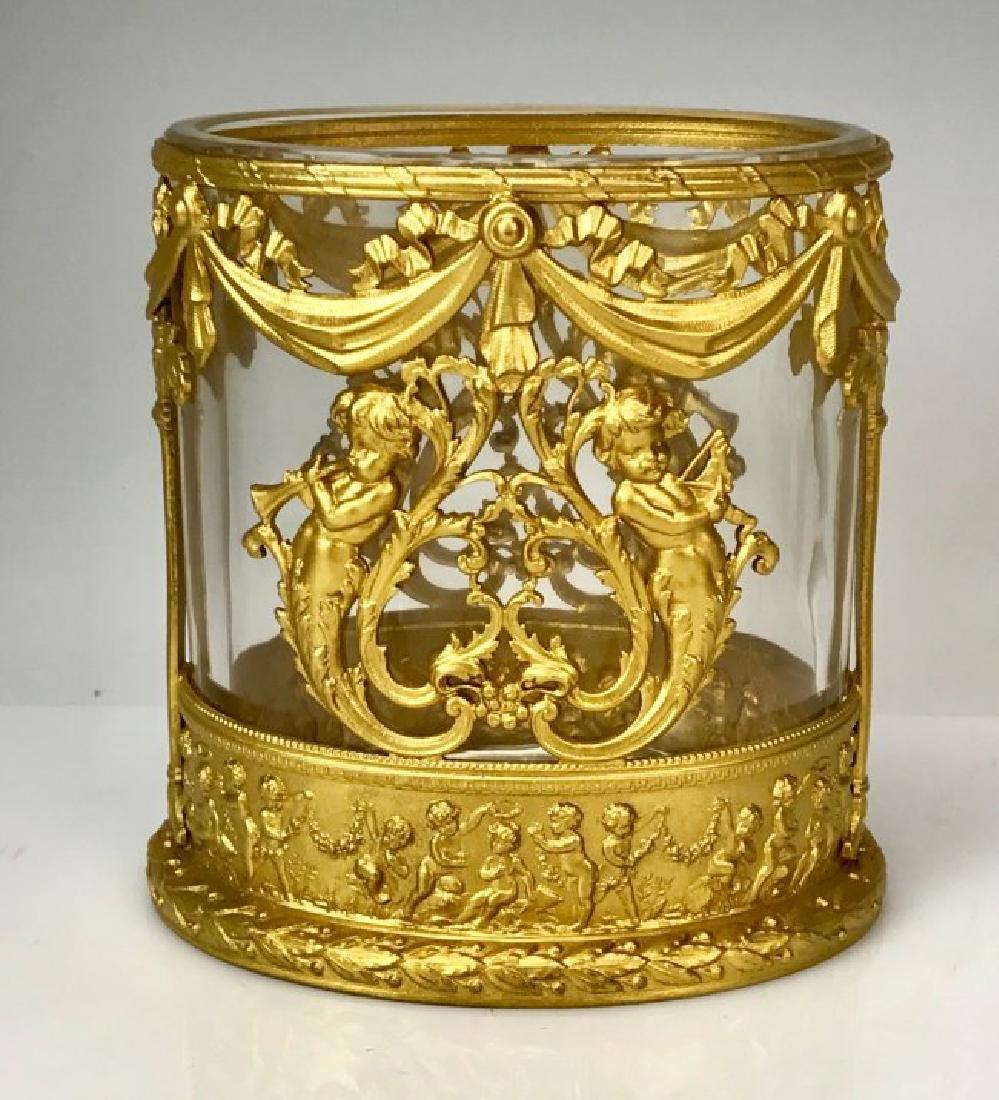 ORMOLU MOUNTED BACCARAT GLASS VASE CIRCA 1900