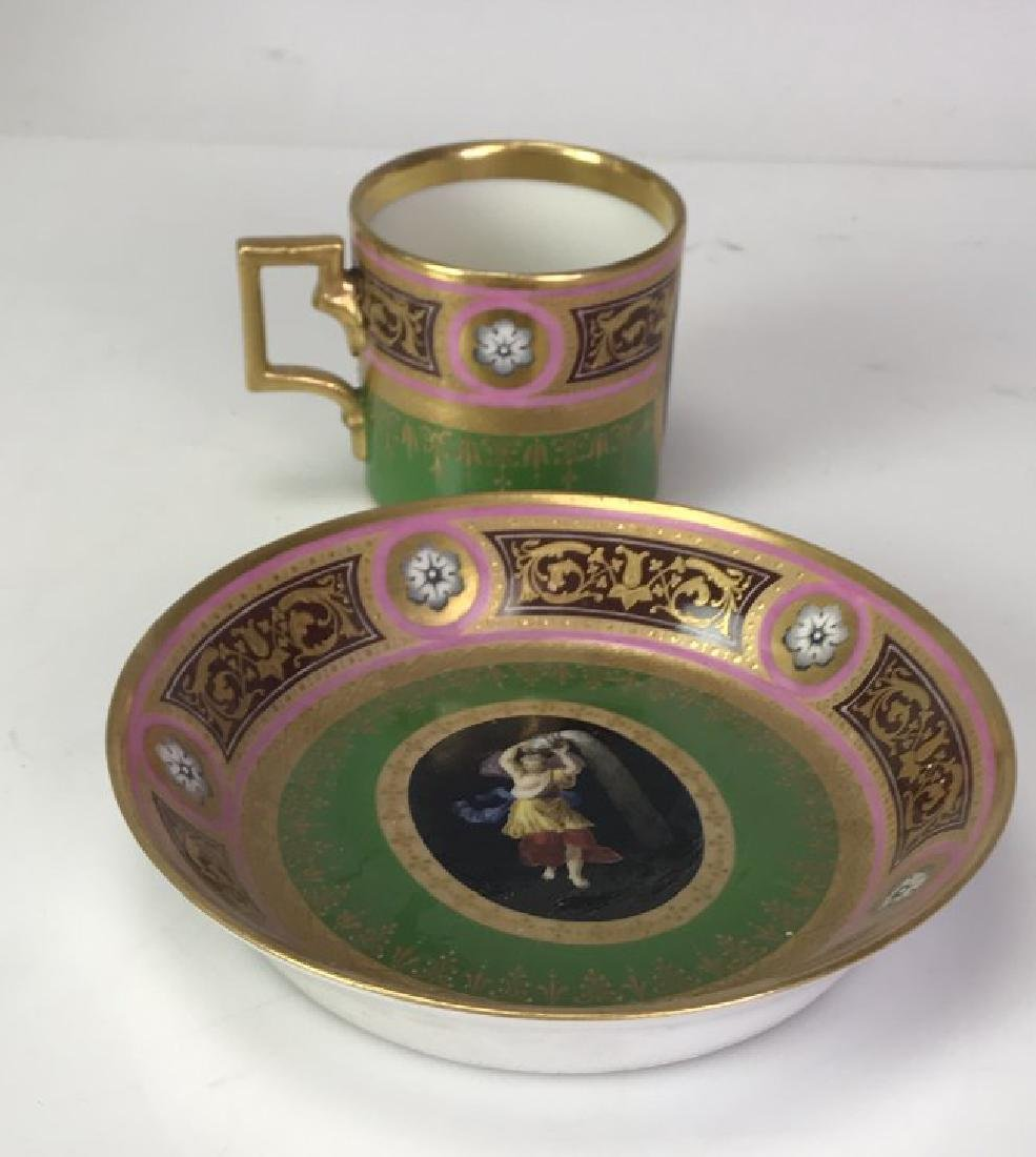 19TH C. ROYAL VIENNA CUP AND SAUCER - 2