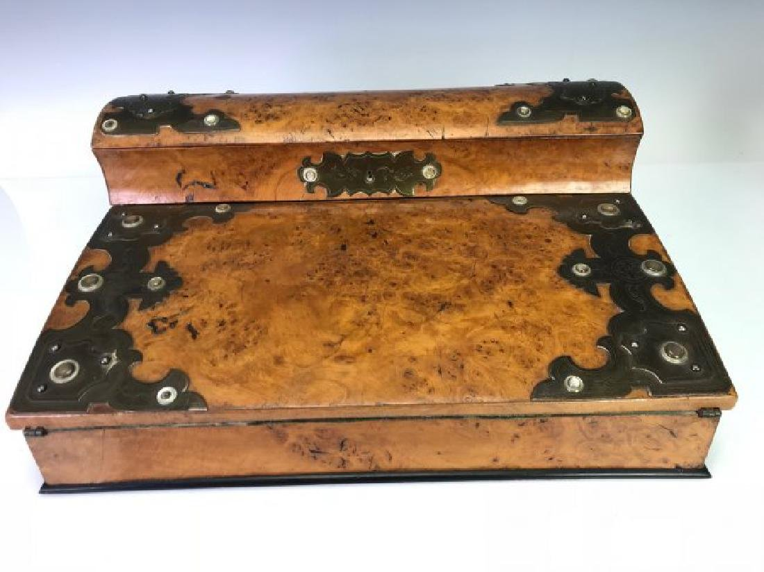19TH C. BURLWOOD PORTABLE DESK