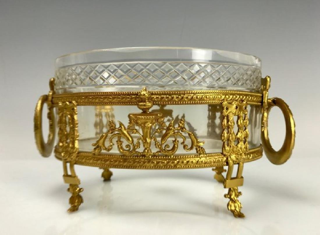 DORE BRONZE AND BACCARAT GLASSS BOWL