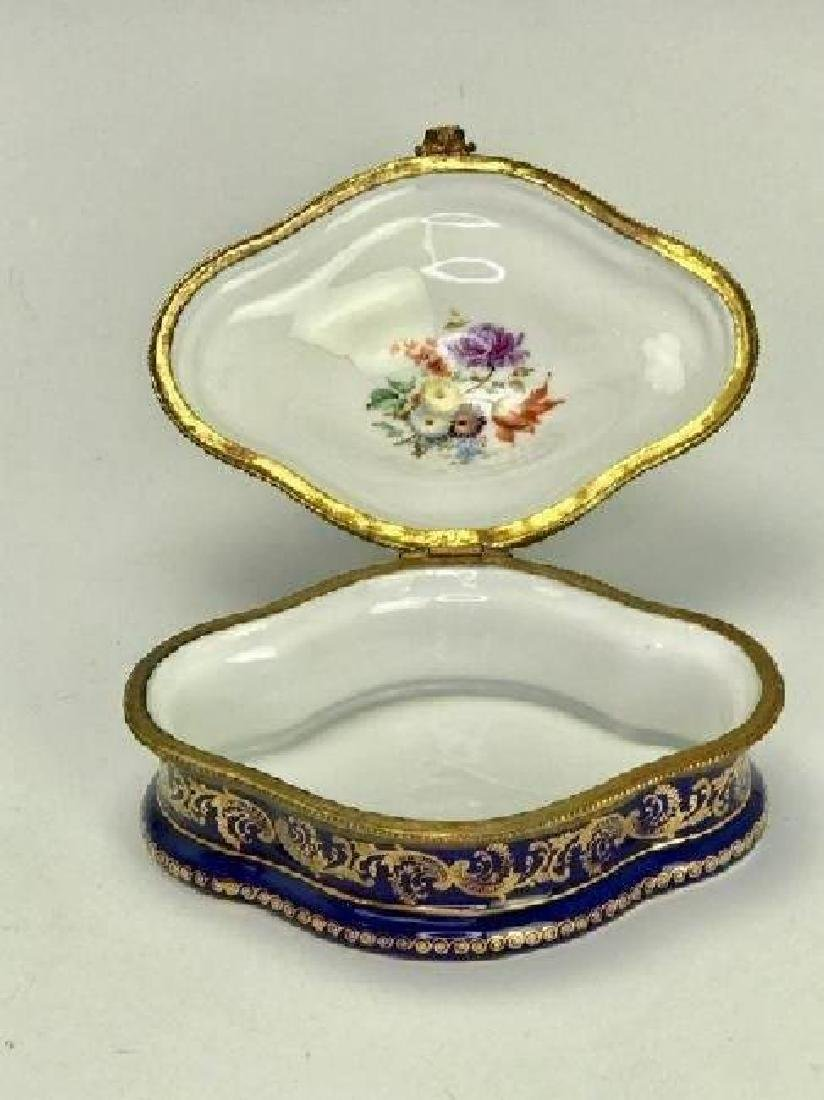 FRENCH SEVRES STYLE PORCELAIN BOX - 2