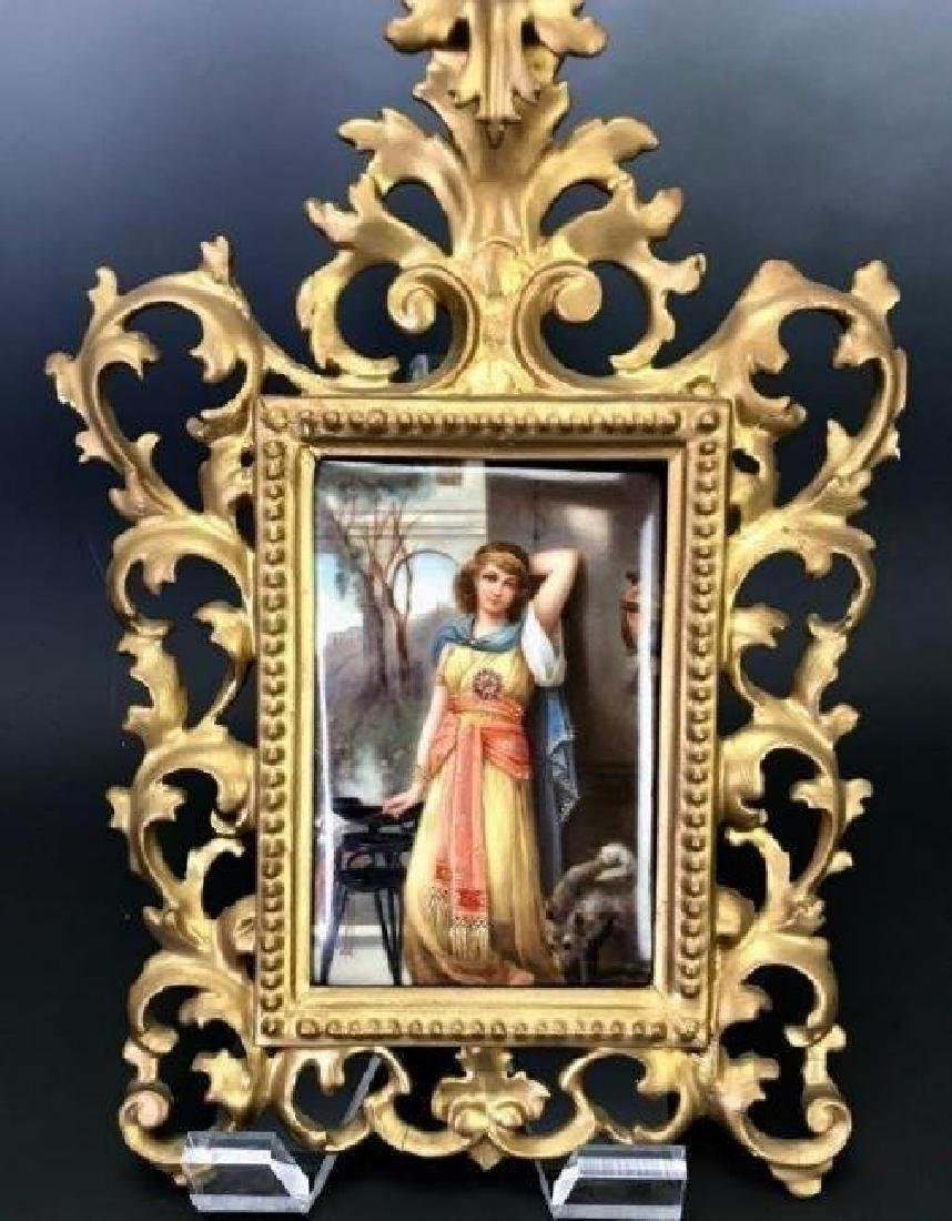 19TH C. KPM STYLE PORCELAIN PLAQUE - 2