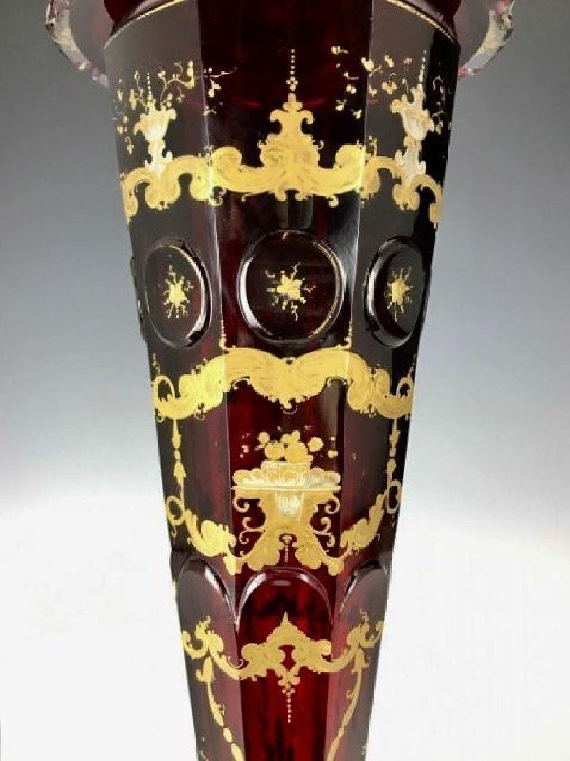 19TH C. BOHEMIAN GILT AND ENAMELLED POKAL - 3