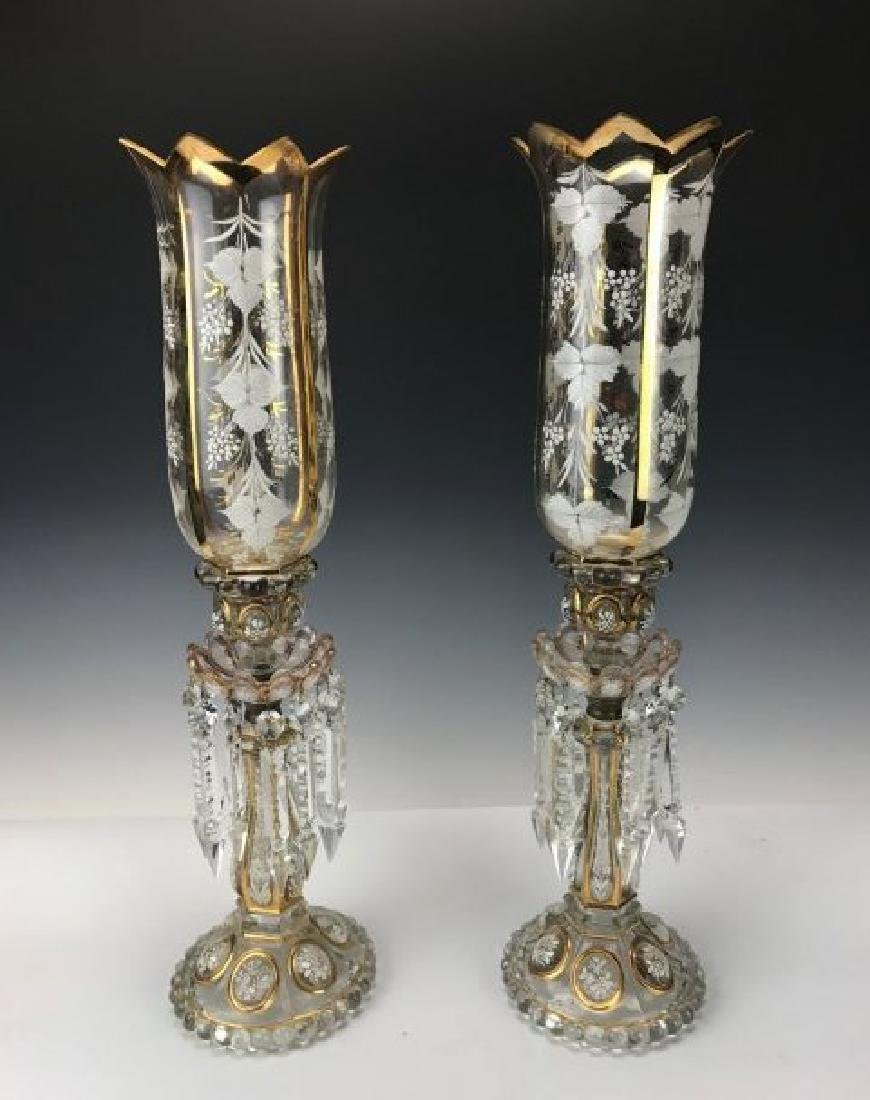 A PAIR OF 19TH C. BACCARAT HURRICANE LAMPS