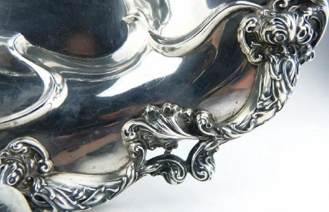 19TH C. STERLING SILVER SERVING DISH - 2