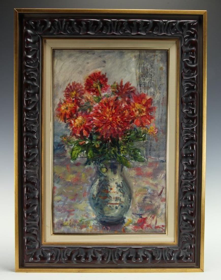 ARTIST SIGNED MODERN OIL PAINTING ON CANVAS