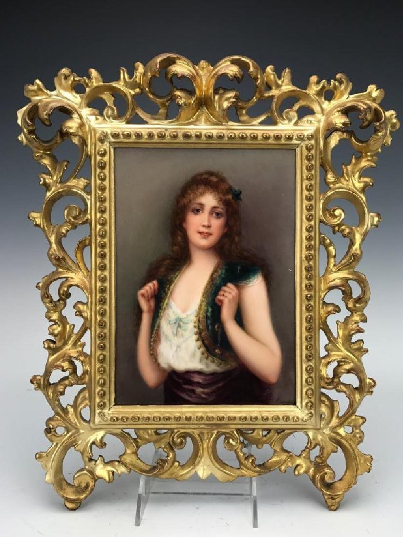 19TH CENTURY BERLIN KPM PORCELAIN PLAQUE