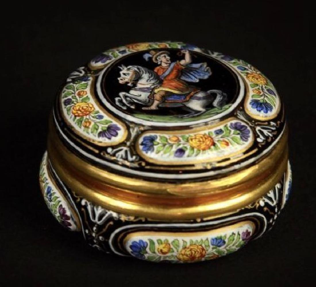 19TH CENTURY VIENNESE ENAMEL AND SILVER BOX