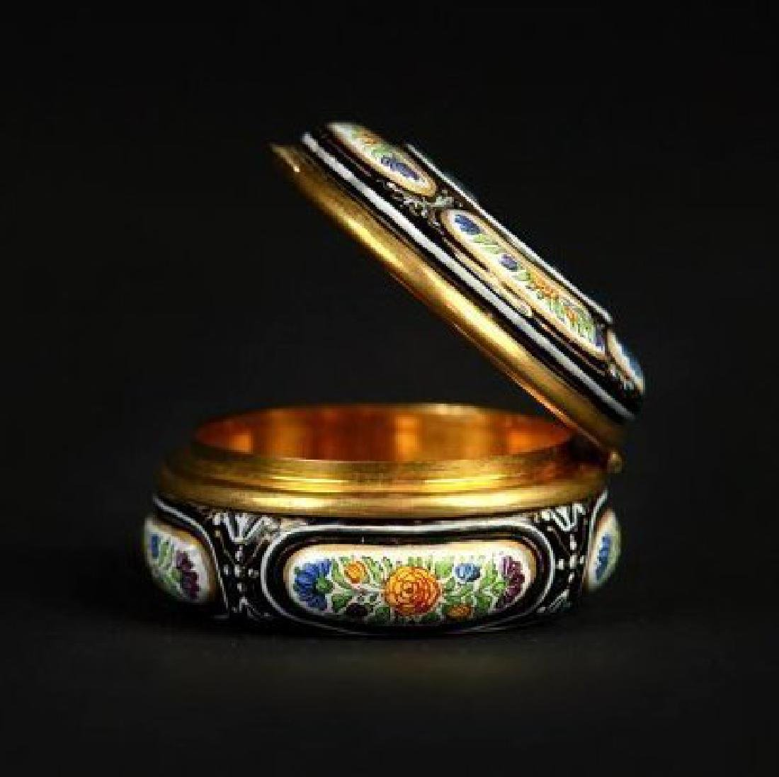 19TH CENTURY VIENNESE ENAMEL AND SILVER BOX - 3