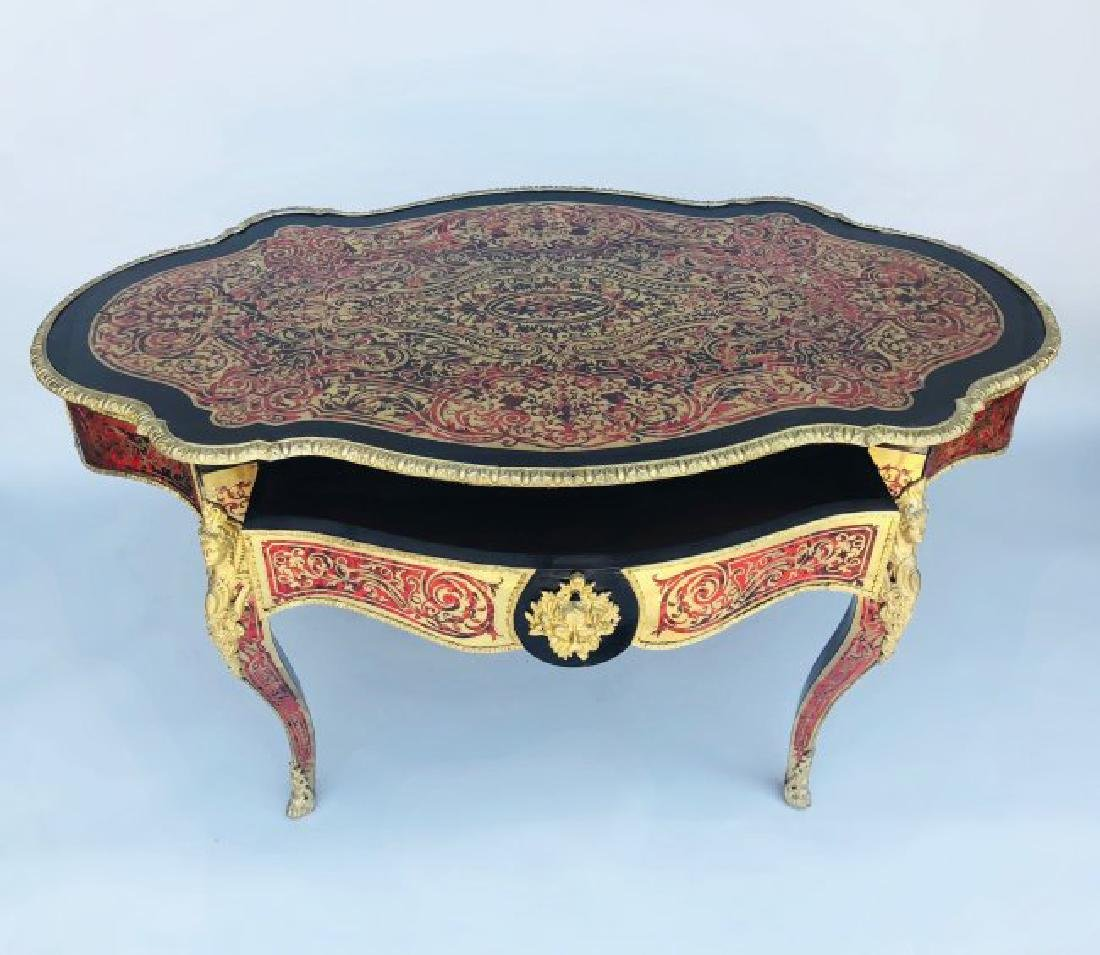 19TH C. ORMOLU MOUNTED BOULLE TABLE