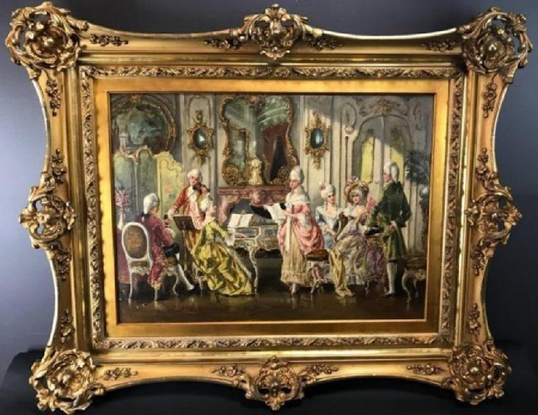 MAGNIFICENT INTERIOR OIL PAINTING SIGNED H. PINGGERA