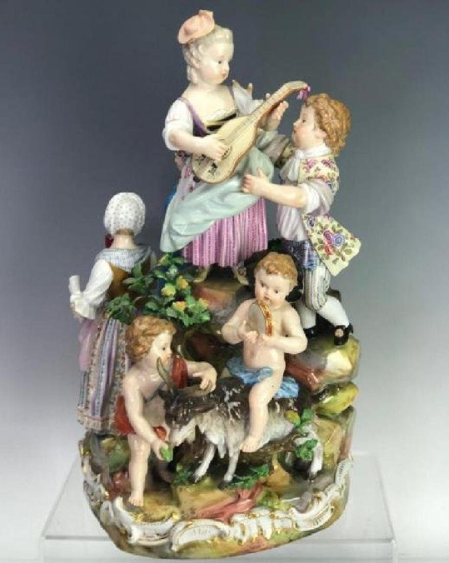 LARGE 19TH C. MEISSEN MUSICAL GROUP