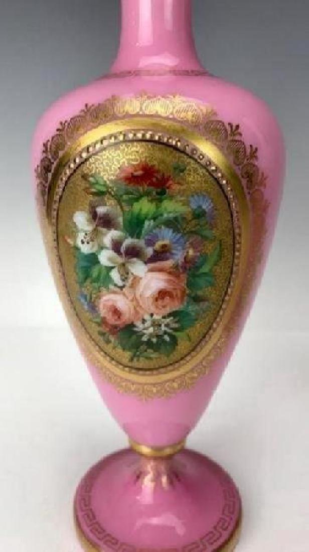 PAIR OF BACCARAT GLASS VASES CIRCA 1850 - 4