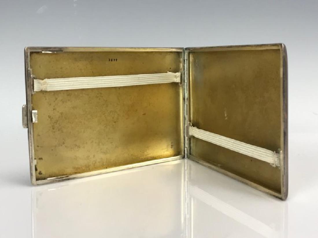 AUSTRIAN SILVER ENAMEL CIGARETTE BOX - 3