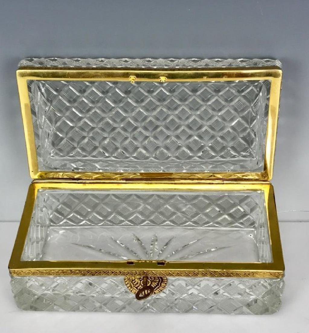 ANTIQUE DORE BRONZE MOUNTED BACCARAT STYLE BOX - 3
