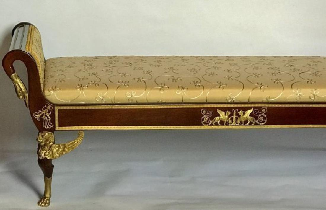 19TH C. EMPIRE STYLE ORMOLU MOUNTED DAYBED - 2