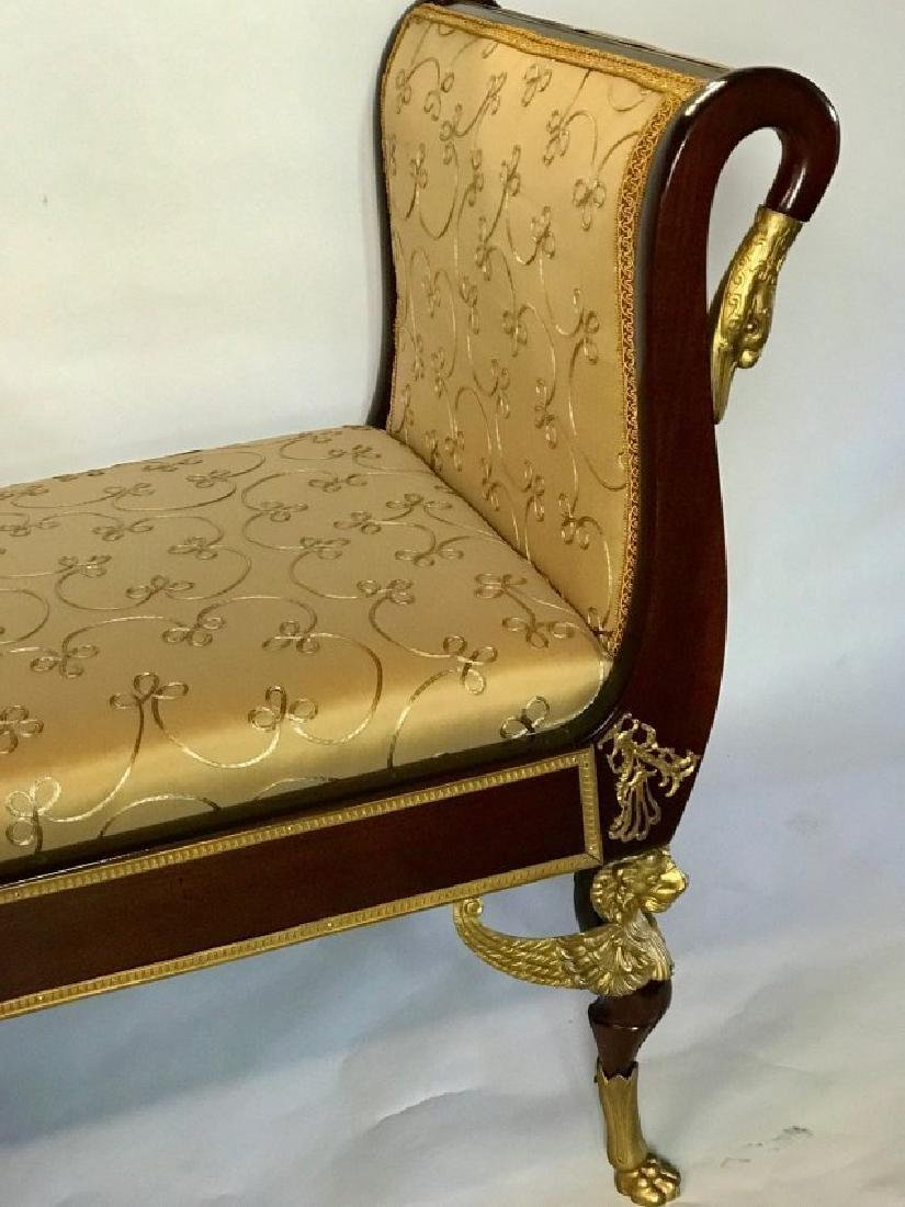 19TH C. EMPIRE STYLE ORMOLU MOUNTED DAYBED - 4