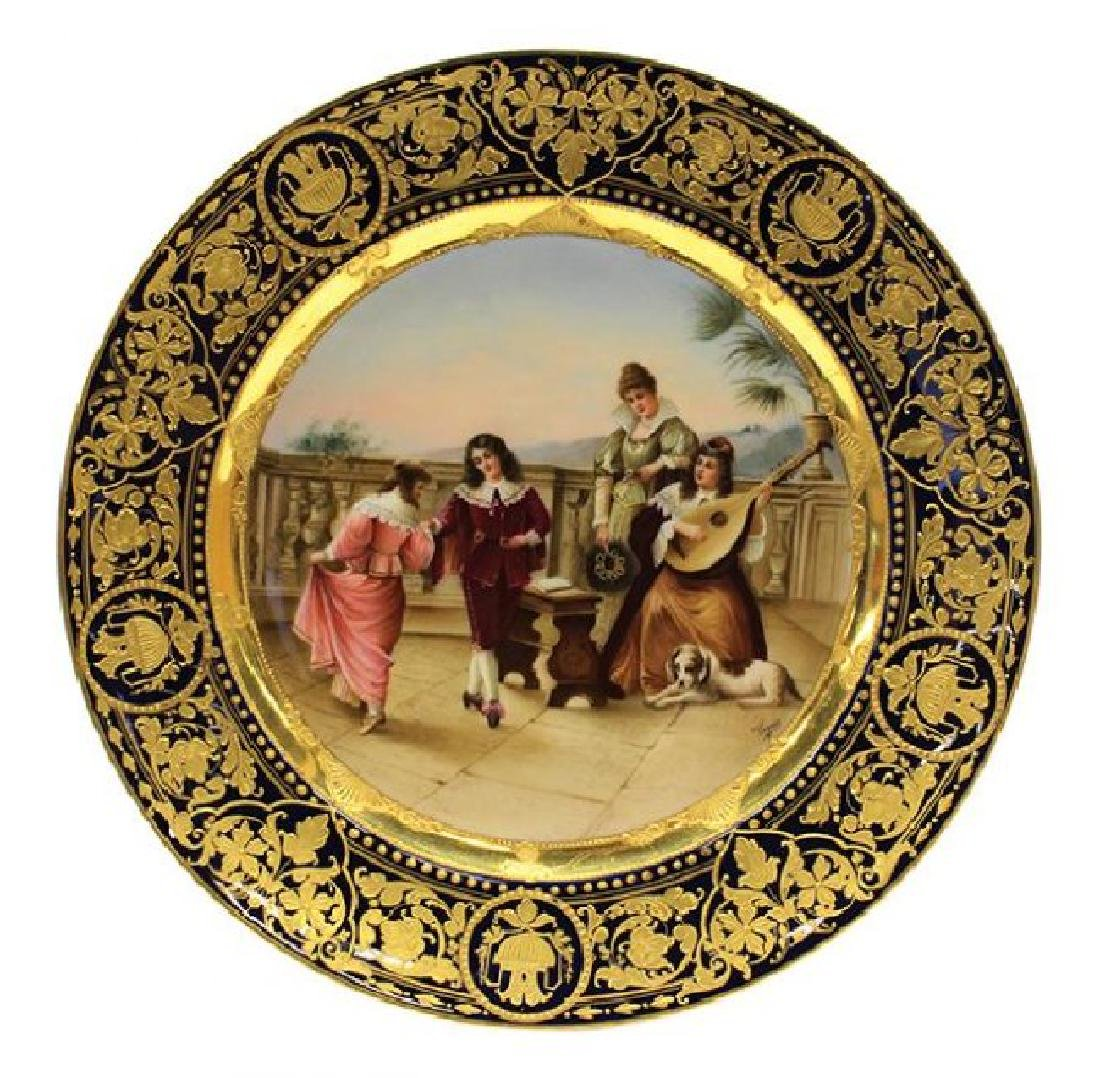 19TH C. ROYAL VIENNA PLATE