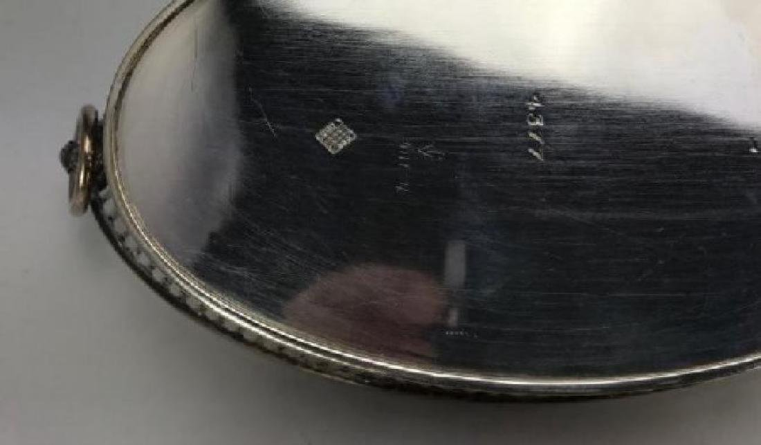 PAIR OF SILVER PLATED DISHES WITH GLASS INSERT - 3