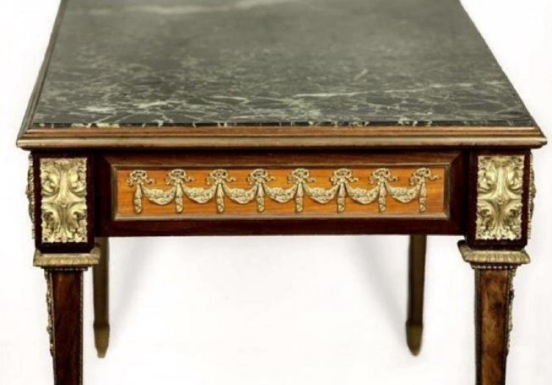 19TH C. ORMOLU MOUNTED MARBLE TOP COFFEE TABLE - 2
