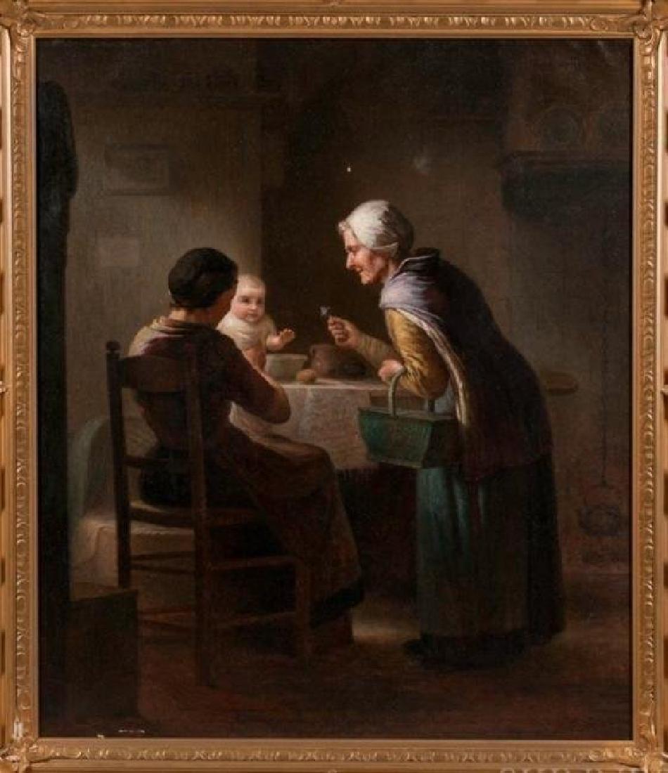 19TH C. DUTCH OIL PAINTING SIGNED JOHAN HELDER