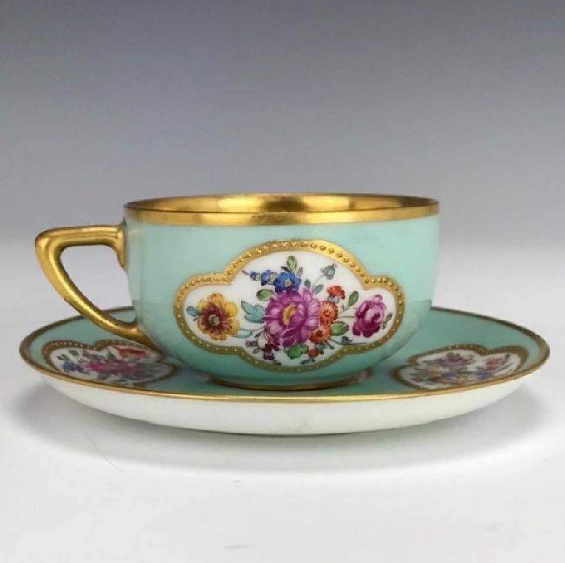 DRESDEN DEMITASSE CUP AND SAUCER CIRCA 1900