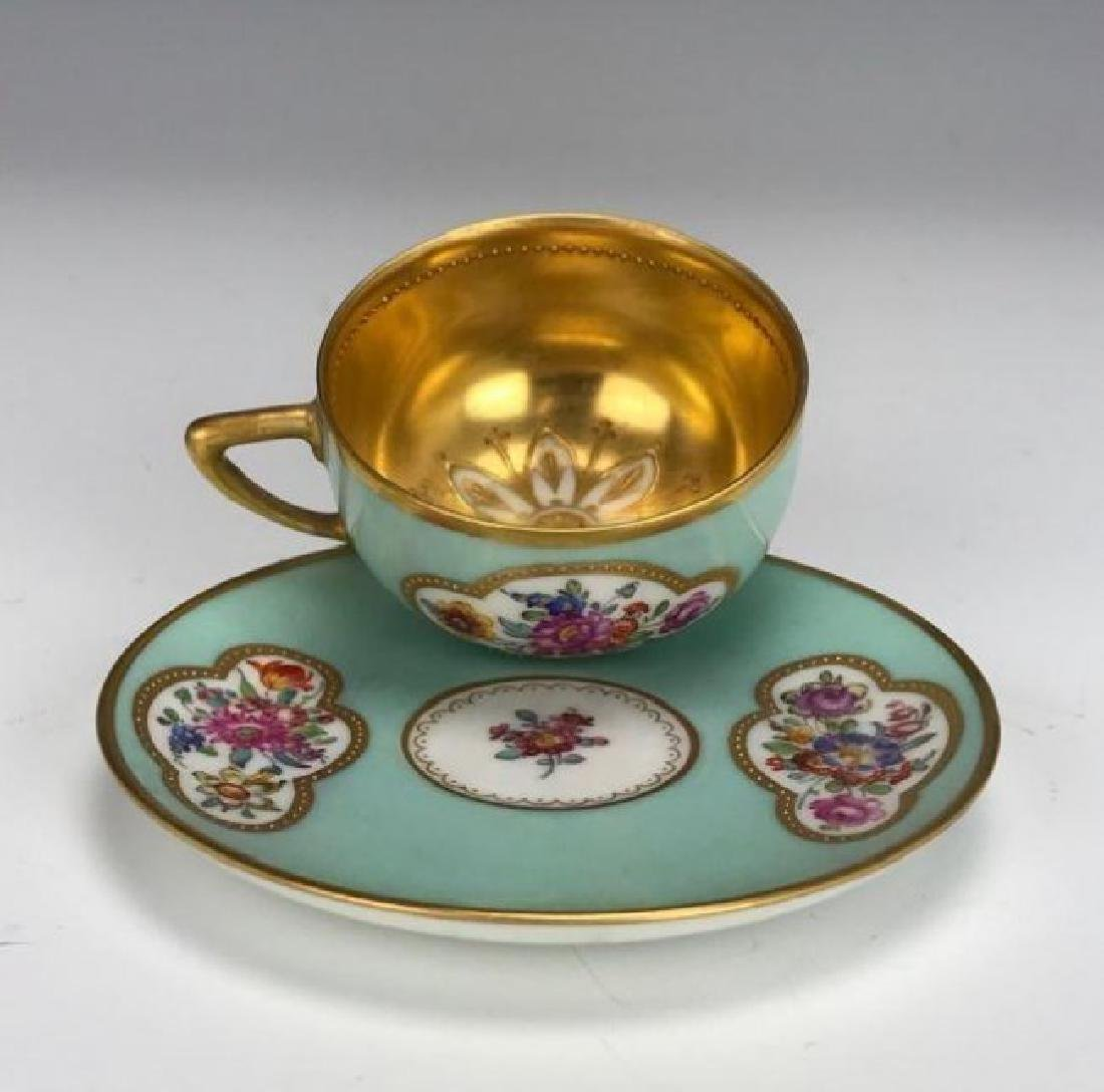 DRESDEN DEMITASSE CUP AND SAUCER CIRCA 1900 - 2