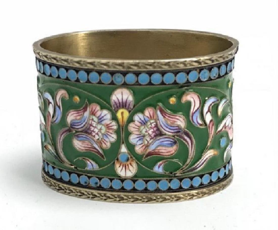 19TH C. RUSSIAN ENAMEL SILVER