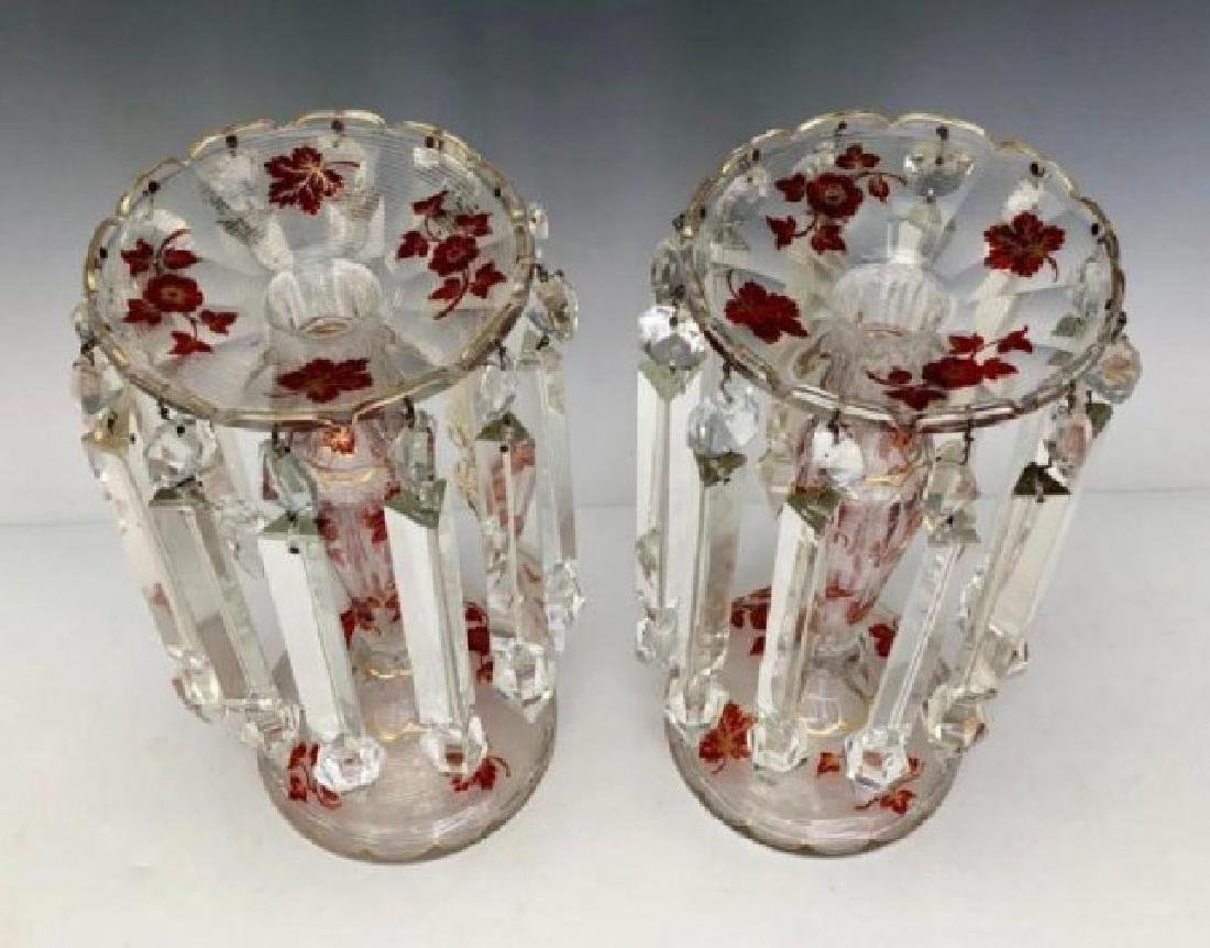 A PAIR OF 19TH C. BOHEMIAN GLASS LUSTERS - 3