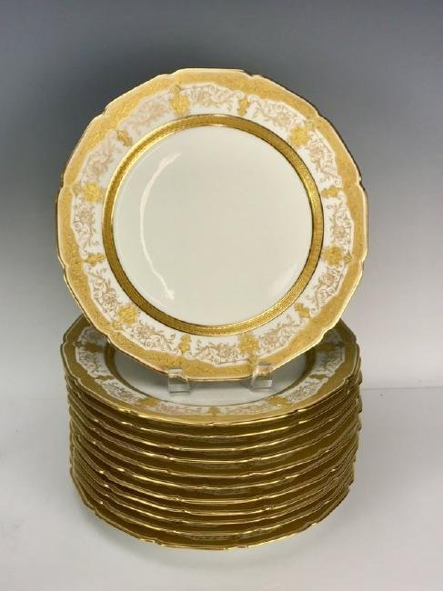 SET OF 12 LIMOGES DINNER PLATES