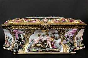 Capodimonte prices 6262 auction price results a large 19th c capodimonte jewlry box altavistaventures Image collections