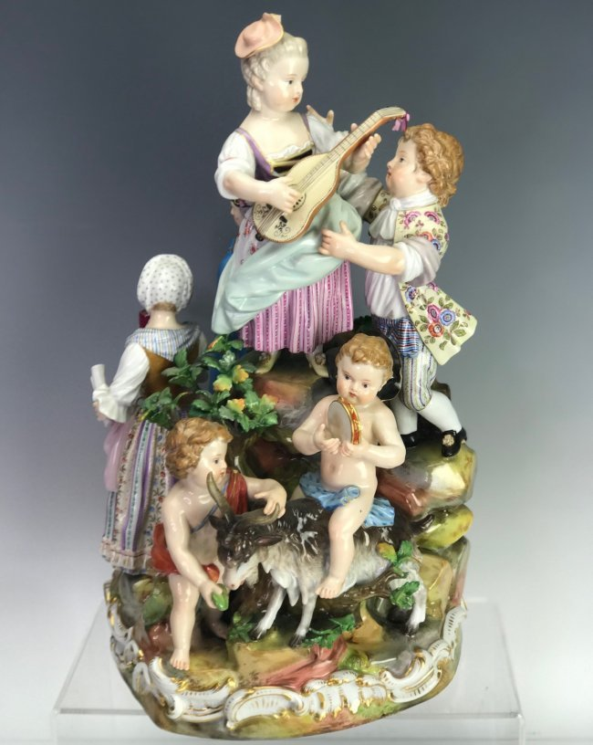 A LARGE 19TH C. MEISSEN MUSICAL GROUP