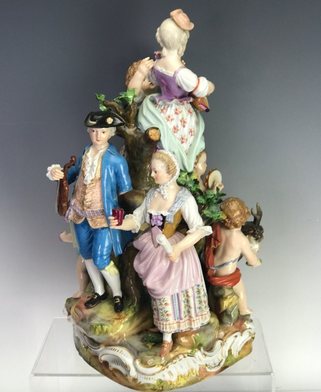 A LARGE 19TH C. MEISSEN MUSICAL GROUP - 2