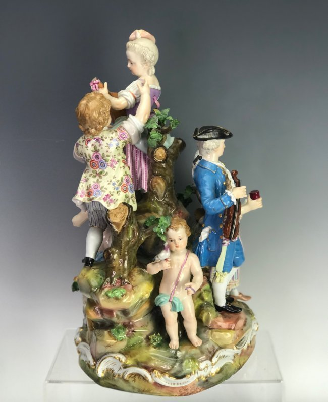 A LARGE 19TH C. MEISSEN MUSICAL GROUP - 3